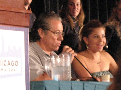 Luciana and Edward James Olmos at Chicago Comic-Con (photo by Mark A. Vasquez)