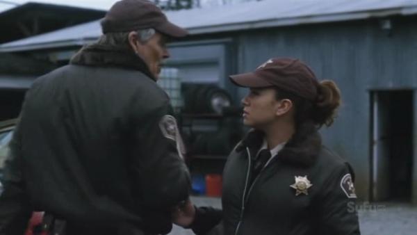 Luciana as deputy Monroe in Phantom Racer