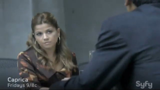 "Luciana as Pryah in the Caprica episode ""There is Another Sky"""