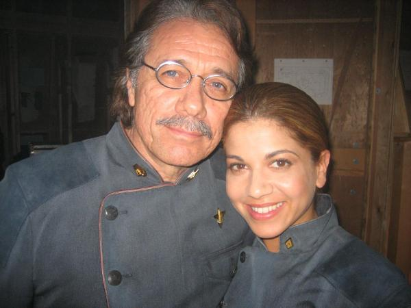 The Admiral and his CAG (Edward James Olmos and Luciana Carro)