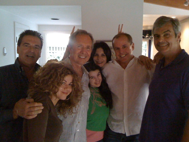 Mario Kiss, Luciana Carro, Lewis Teague, Miss Lola, Laura Bayonas, Tim Lannen, and another member of the cast and crew of Charlotta-TS