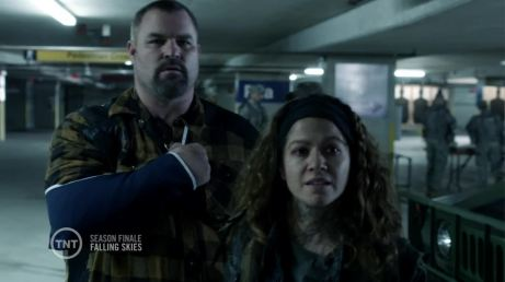 "Luciana as Crazy Lee in the Falling Skies episode ""A More Perfect Union"""